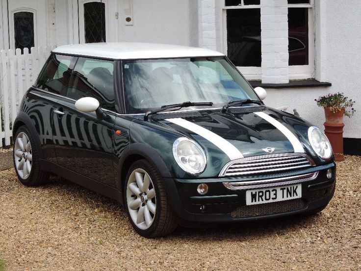 2003 MINI Cooper Automatic British Racing Green/White Roof Low Miles Great…