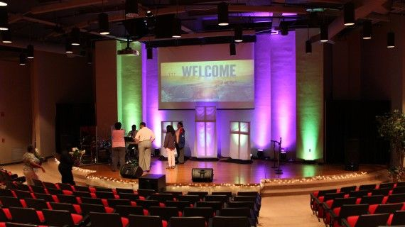 simple stage design lighting church stage design