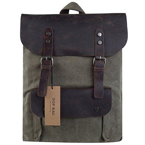 TOP-BAG®Women Vintage Canvas Leather Shoulder Bag Backpack Weekender Bag Rucksack Satchel, MC2166 (armygreen) TOP-BAG http://www.amazon.com/dp/B00OSY0L2Q/ref=cm_sw_r_pi_dp_12gtvb1EPNTZ7