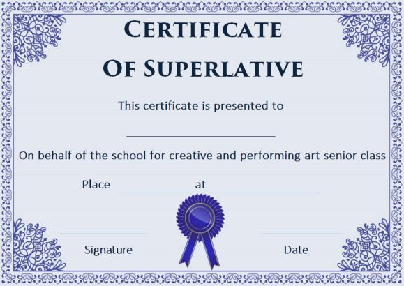 10 best Superlative Certificate Template images on Pinterest