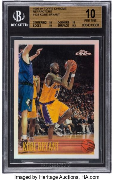 Basketball Cards:Singles (1980-Now), 1996-97 Topps Chrome Refractors