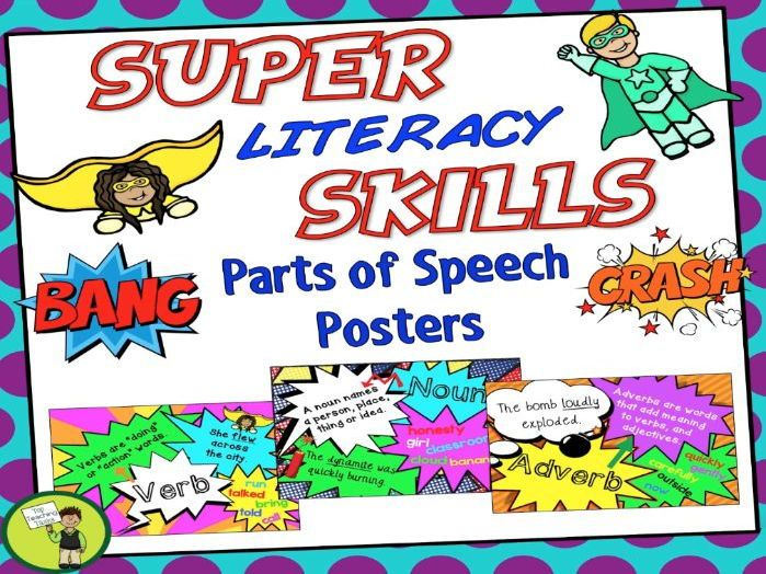 Parts of Speech posters help reinforce students' understanding of the various parts of speech, while at the same time brightening up your classroom walls and creating an engaging learning environment. <br /> <br /> ****************************************...