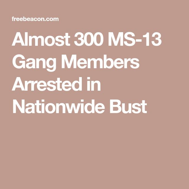 Almost 300 MS-13 Gang Members Arrested in Nationwide Bust