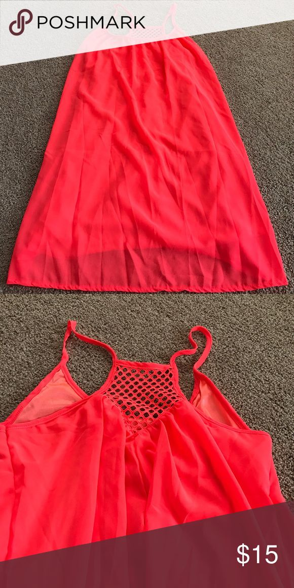 NWOT Hot Coral Sundress Brand new- neon coral Dresses