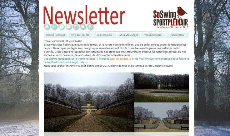 Newsletter Club de sport Marche Nordique et Fitness plein air Marly-le-roi