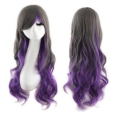 lolita peruk inspirerad av svart och lila blandad färg syntetiska peruker 5351563 2016 – Kr.146