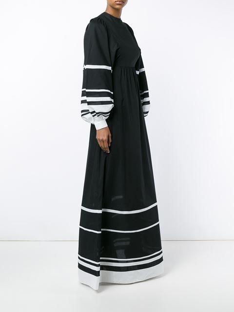 Vika Gazinskaya длинное платье с полосками