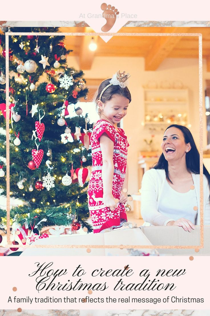 How to create a new family tradition- a tradition that reflects the real meaning of Christmas. Includes free downloadable checklist.