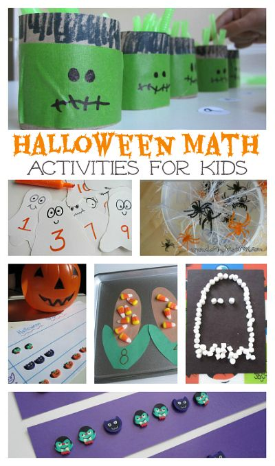 Lots of fun math ideas for Halloween.