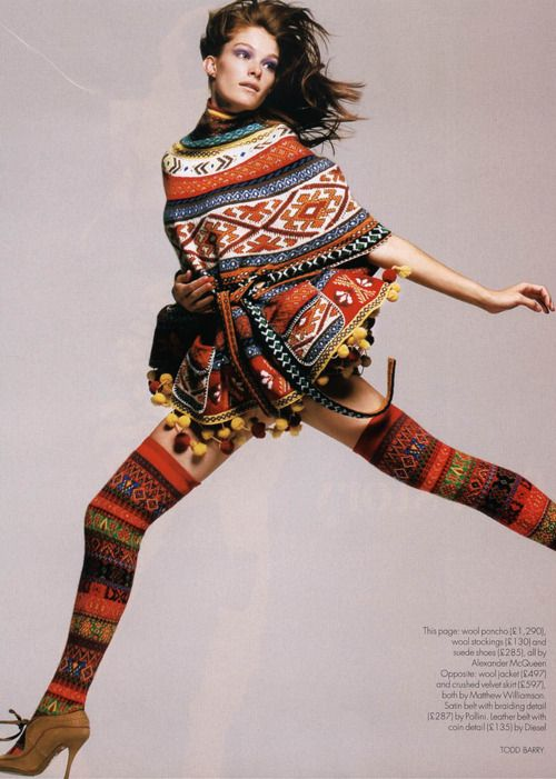 Alexander McQueen / Knitwear / High Fashion / Ethnic & Oriental / Carpet & Kilim & Tiles & Prints & Embroidery Inspiration /