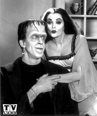 The Munsters is an American family television sitcom depicting the home life of a family of monsters. It stars Fred Gwynne as Herman Munster and Yvonne De Carlo as his wife, Lily Munster.