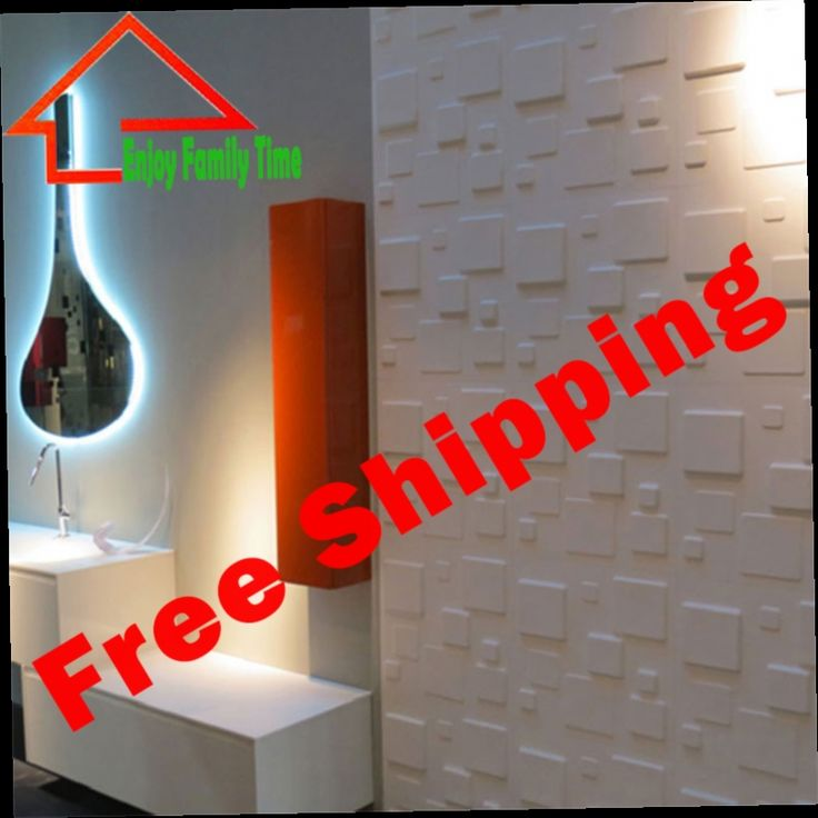 149.99$  Watch here - http://alim7b.worldwells.pw/go.php?t=32769868251 - Free Shipping New Decorative 3d wall Panels Waterproof wall Panel 3d Embossed PVC 3D Wall Plate TV Background 12pcs 50*50CM 149.99$