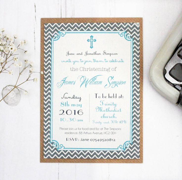 Personalised U0027Christeningu0027 Invitations