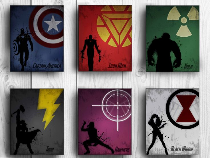 The+Avengers+Poster++Set+of+6+Movie+Poster+Prints+by+tkbdesigns,+$50.00