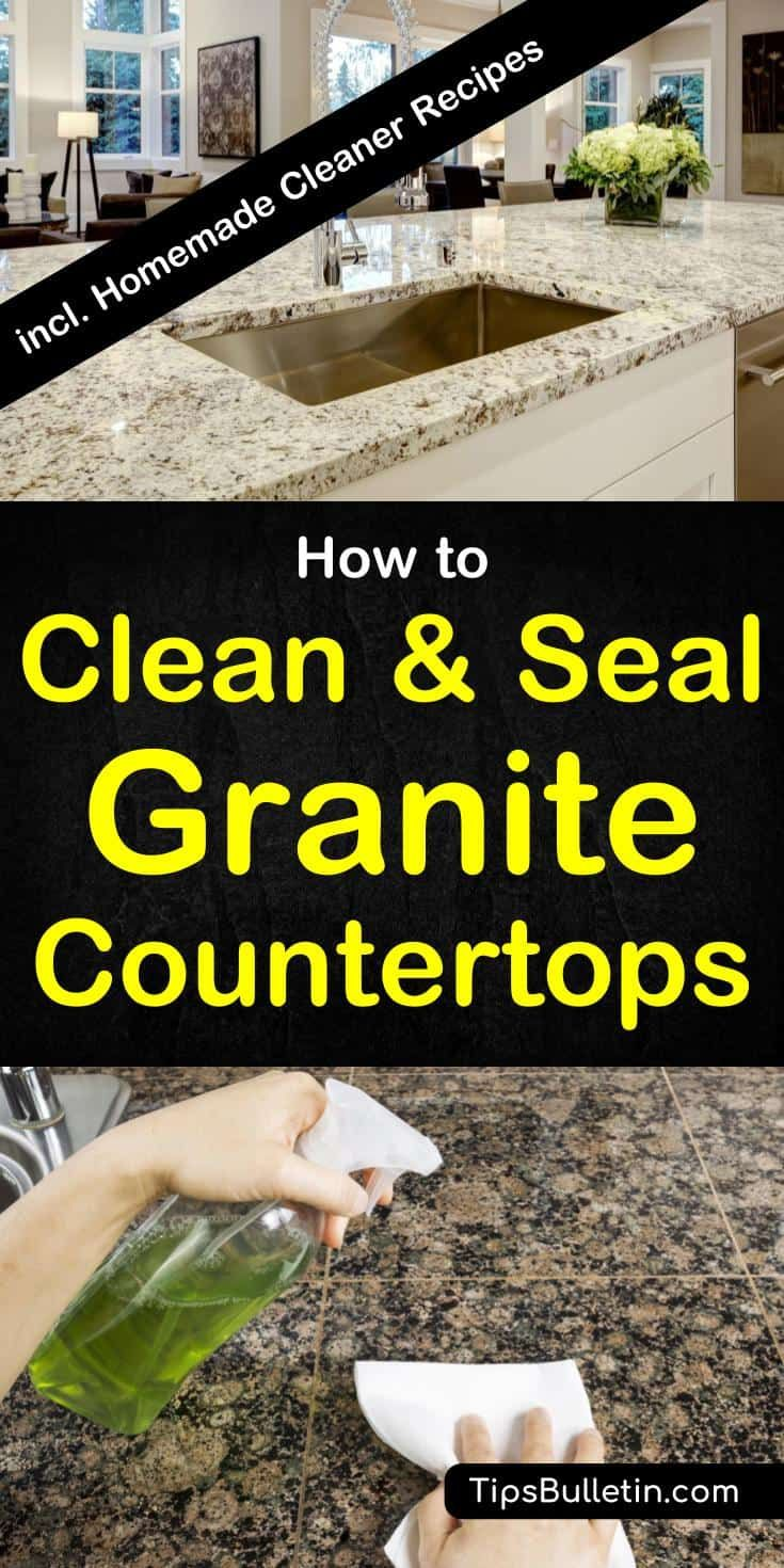 11 Easy Ways To Clean Granite Countertops More How To Clean Granite Cleaning Granite Countertops Granite Cleaner