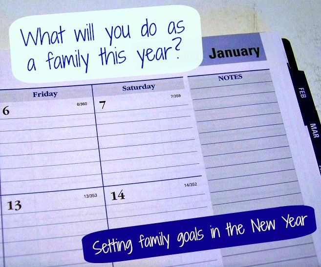 Great details on setting goals for the New Year -- it's a perfect time to talk about what you want to enjoy & do as a family this year!