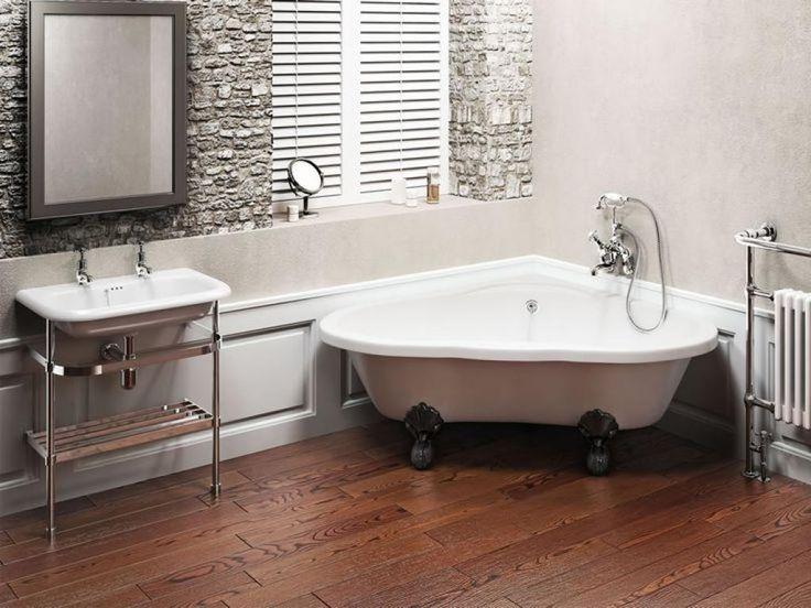 Simple cute corner freestanding clawfoot bathtubs More