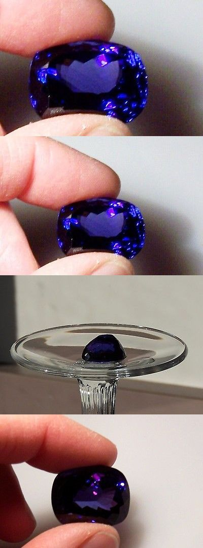 Tanzanite 4195: Natural Tanzanite Vivid Violet Blue 34.97 Ct Cushion Sale ! -> BUY IT NOW ONLY: $28738 on eBay!