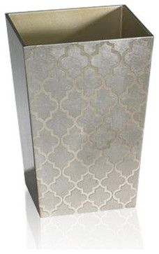 Arabesque Espresso/Coffee Wastebasket - transitional - waste baskets - Belle and June