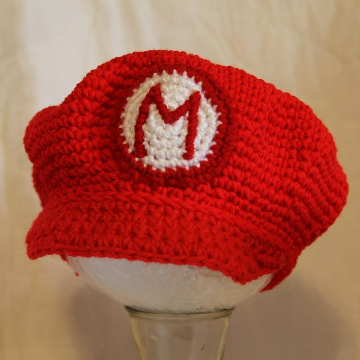 Crochet Pattern Mario Hat : Mario crochet hat For The Kids Pinterest