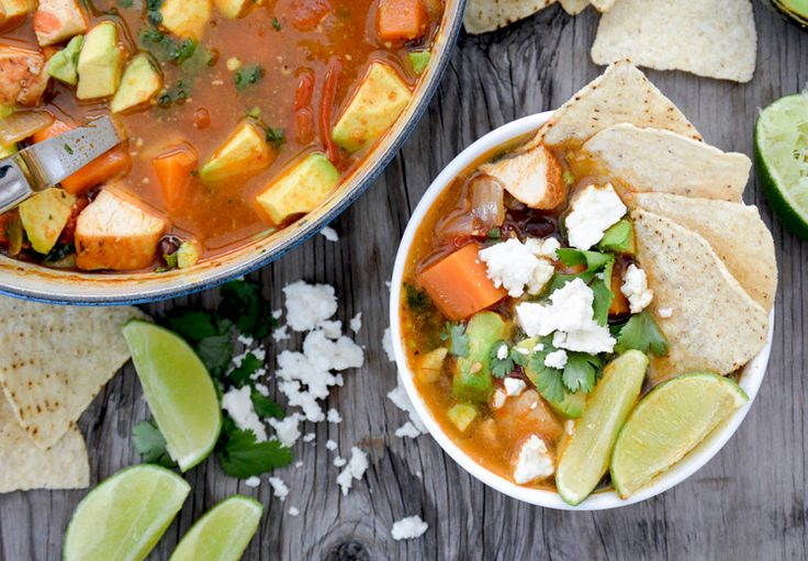 Southwest Chicken and Sweet Potato Soup