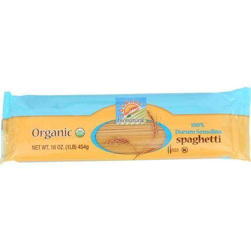 Bionaturae Pasta - Organic - 100 Percent Durum Semolina - Spaghetti - 16 Oz - Case Of 12