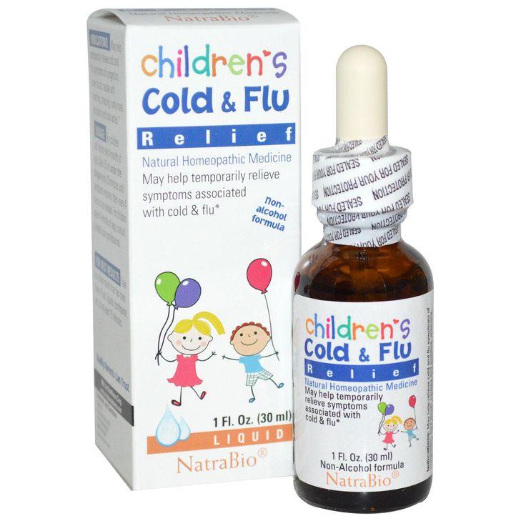 NatraBio, Children's Cold & Flu Relief, 1 fl oz (30 ml