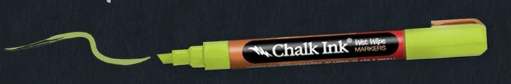 Chalk ink! Get the  look, without the dust or mess or that horrible sound!!