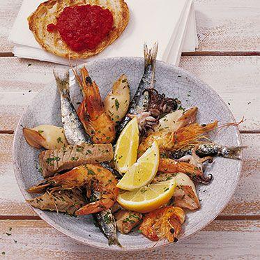 Gegrillte Fische und Meeresfrüchte Rezept | Küchengötter