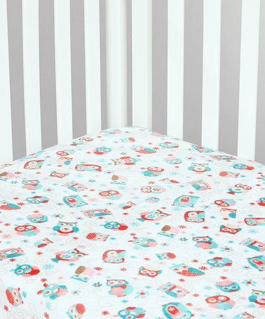 Look what I found on #zulily! Coral Owl Minky Crib Sheet by Lolly Gags #zulilyfinds
