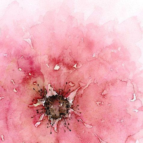 Impresión del arte de la pintura Acuarela abstracta por SRorickArt