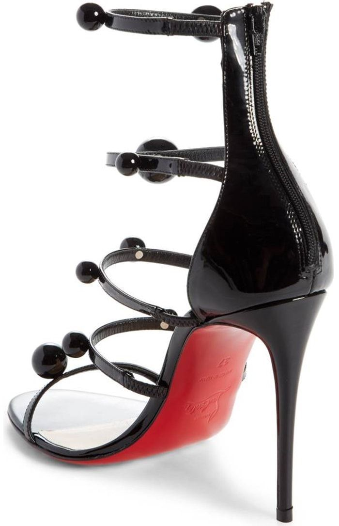 online store 4d289 a4010 Christian Louboutin 'Atonana' Ornament Sandals in Black ...