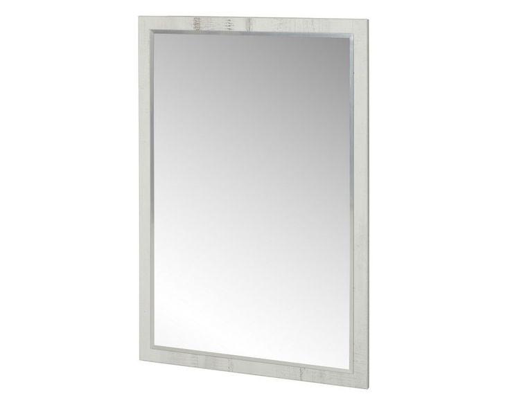 Miroir contemporain couleur bois blanc PIERRE