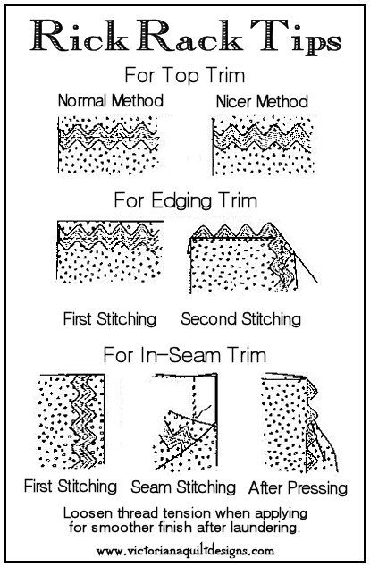 Rick Rack Trim Tips #quilting #sewing