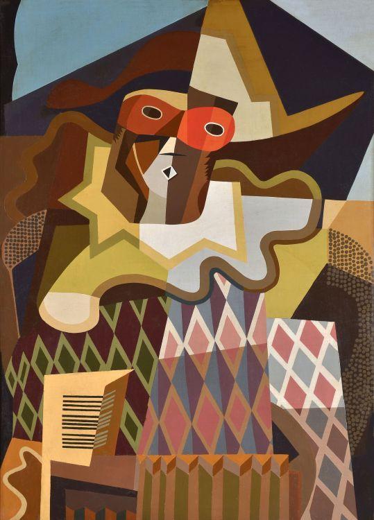 Arlequín (1925) Oleo sobre tela - Emilio Pettoruti (Argentino 1892-1971) Museo Nacional de Bellas Artes de Buenos Aires