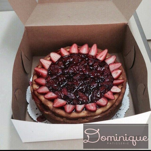 red berries NY Cheesecake