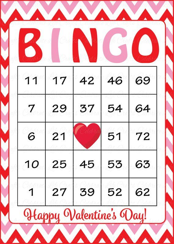 graphic regarding Printable Bingo Chips referred to as 30 Valentines Bingo Playing cards - Valentine Occasion Match - Immediate