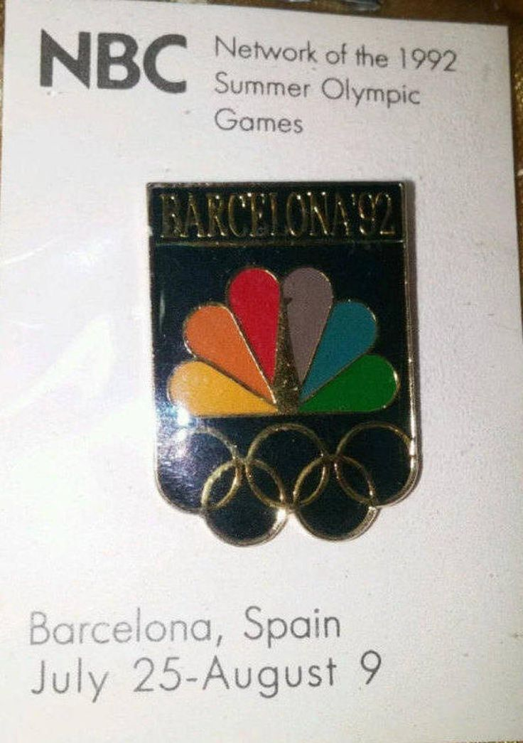Vintage NBC Olympics Peacock Rainbow Pin 1992 New in
