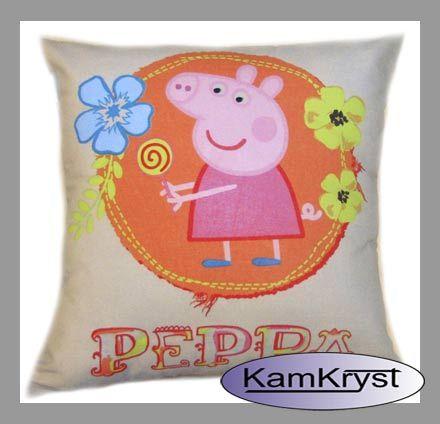 Children Pillow with Peppa Pig | Poduszka dziecięca z postacią Świnki Peppy - KamKryst #peppa #peppa_pig