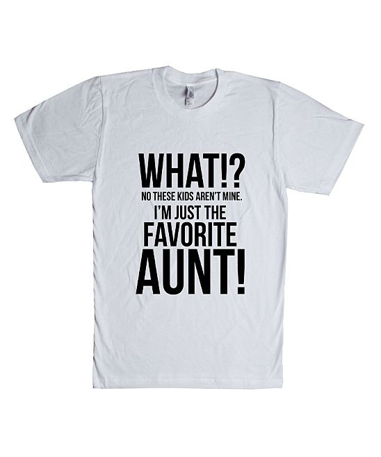 Make a bold statement with our Aunt T-Shirts, or choose from our wide variety of expressive graphic tees for any season, interest or occasion. Whether you want a sarcastic t-shirt or a geeky t-shirt to embrace your inner nerd, CafePress has the tee you're looking for.