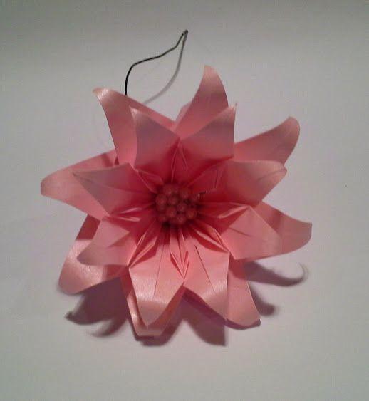 Flor Rosa Origami Bela Flor Pinterest