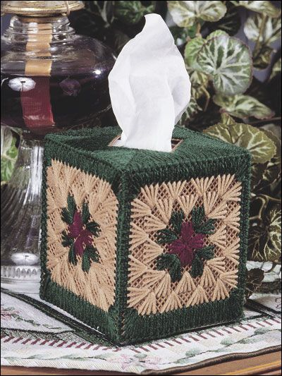 Plastic Canvas - Holiday & Seasonal Patterns - Winter Patterns - Granny Squares Tissue Topper