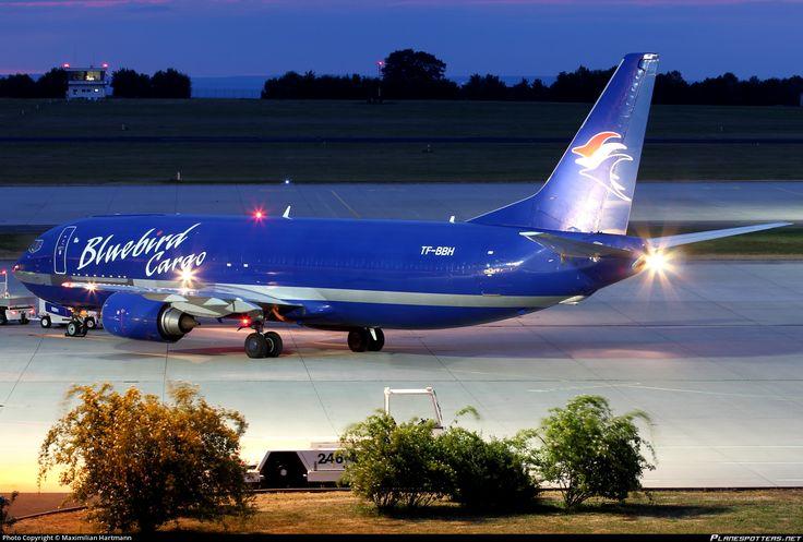Bluebird Cargo Boeing 737-4Y0(SF) TF-BBH aircraft, skating at Germany Erfurt-Weimar Airport. 09/06/2015.