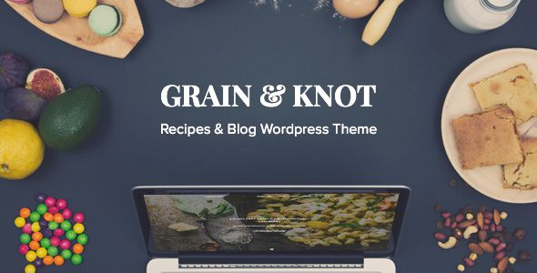 Introducing Grain & Knot is fully responsive, feature rich and beautifully designed WordPress theme perfect for every food blog. It is tool for publishing, managing and sharing Your recipes with wo...
