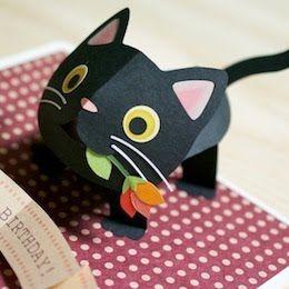 pop-up kitten - Kagisippo pop-up cards_2