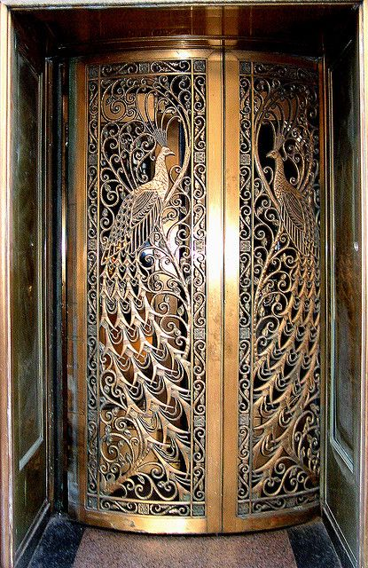Door to C D Peacock jewelry store on State St at Monroe in Downtown Chicago.