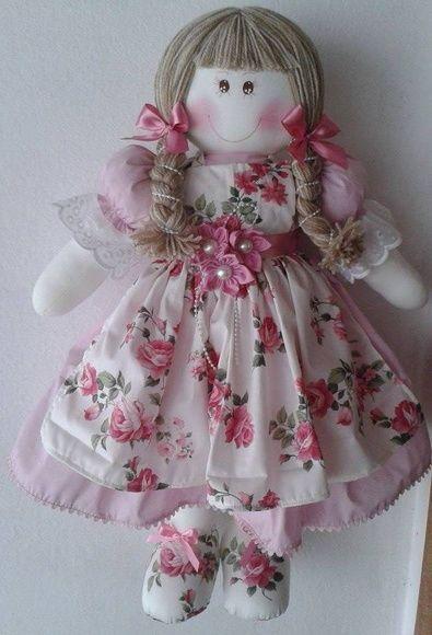 Boneca De Pano 65 Cm