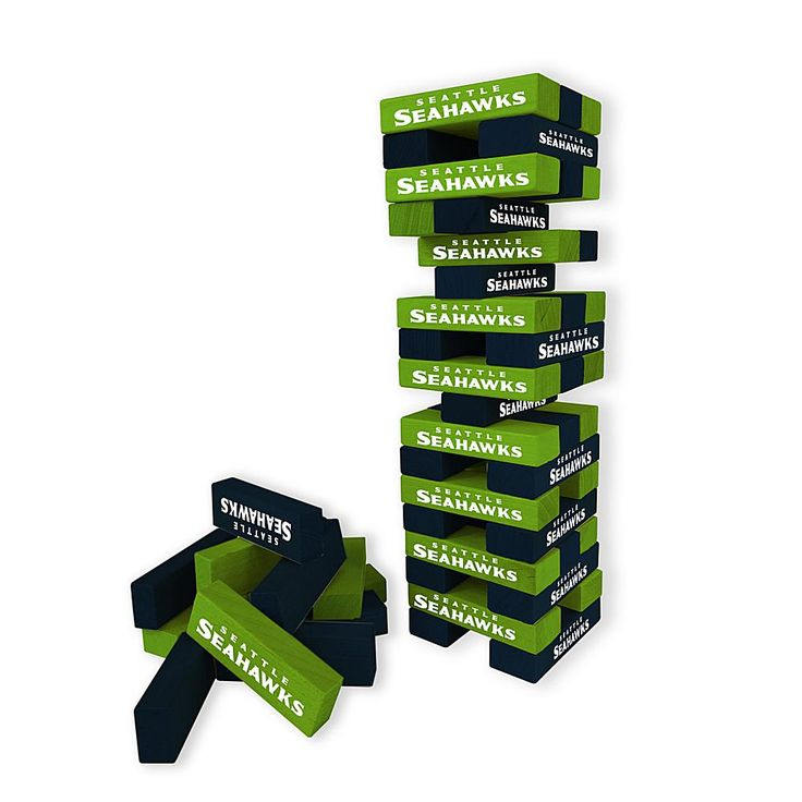 Officially Licensed NFL Table Top Stackers - Seahawks