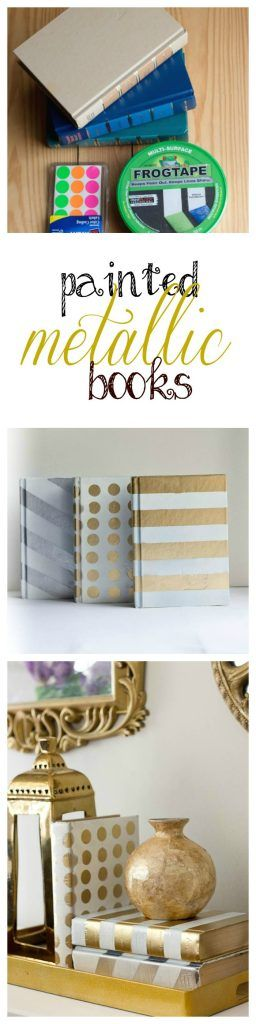 Painted Metallic Books