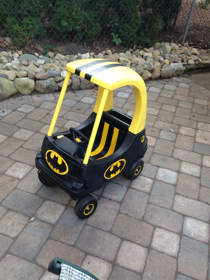 my Cozy coupe makeover ... Batman The Batmobile! #cozy #coupe #diy                                                                                                                                                     More
